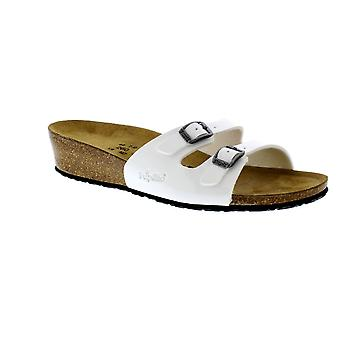 Birkenstock Anne Narrow Fit - White Patent 403213 (Man-Made) Womens Sandals Various