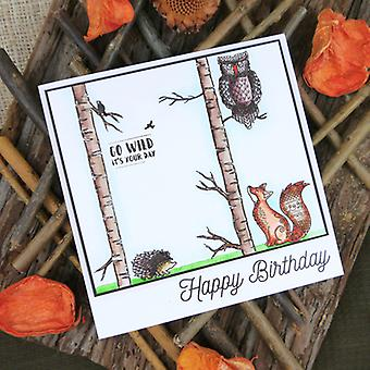 Hunkydory For The Love Of Stamps A6-Woodland Wildlife FTLS130