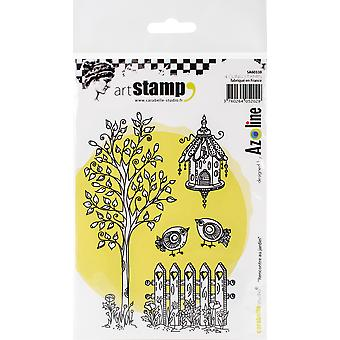 Carabelle Studio Cling Stamp A6 By Azoline-Meeting In The Garden SA60338