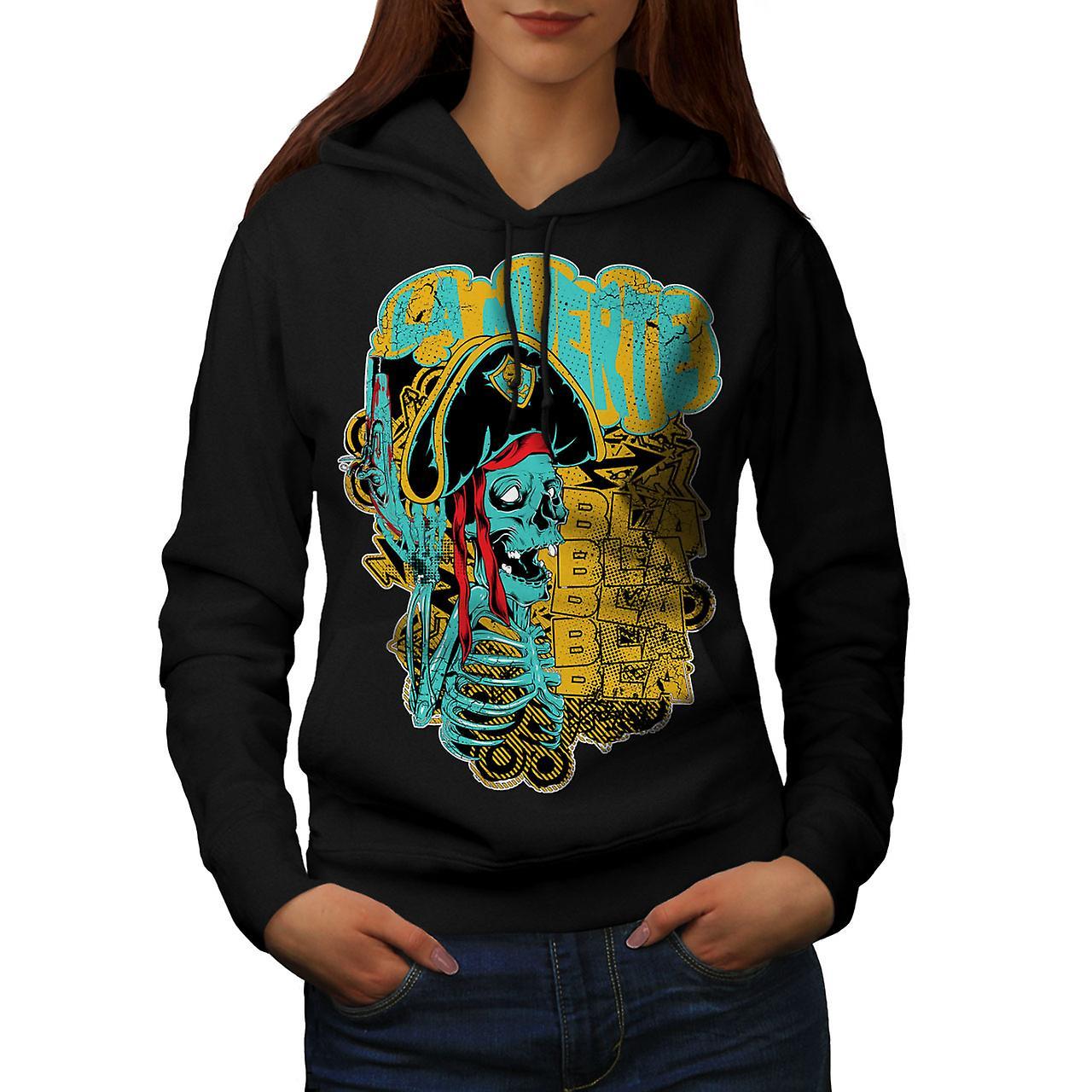 La Muerte Festival Skull Women Black Hoodie | Wellcoda