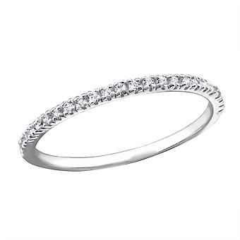 Eternidad - 925 anillos de plata Circonita
