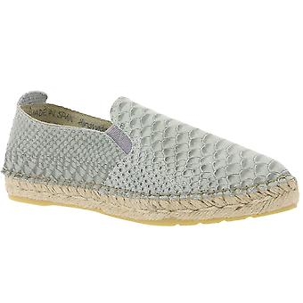 Buffalo shoes real leather Espadrilles in Snake look Mint Green