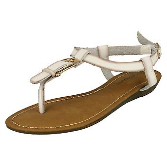 Womens Savannah Wedge Toe Post Sandals F0958