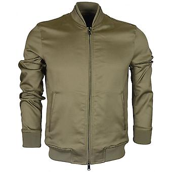 Emporio Armani 3z1b90 Zip Up Green Bomber Jacket
