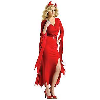 Gothic Devil Diabla Red Halloween Dress Up Women Costume