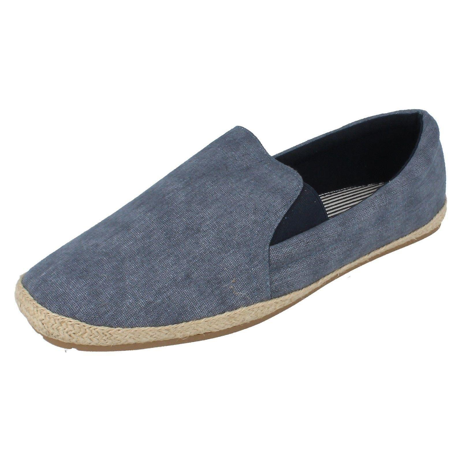 Mens Maverick Canvas Shoes - Navy Canvas - UK Size 9 - EU Size 43 - US Size 10