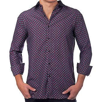 Men's Long Sleeve Vintage Golf Club Polo shirt shirt men's shirt pattern Black Purple