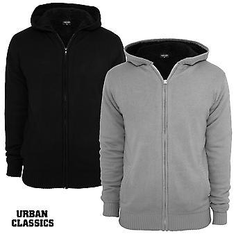 Urbanas classics invierno Zip sudadera con capucha de punto