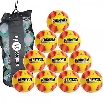 10 x DERBY STAR youth ball Futsal - PRO S-LIGHT includes ball sack