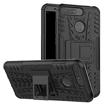 Para Huawei Y6 2018 híbrido caso 2 pieza SWL bolso al aire libre de la caja negra funda cubierta de protección