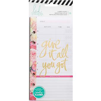 Heidi Swapp Personal Memory Planner Inserts-Meal & Exercise 25/Pkg