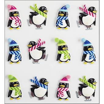 Jolee's Boutique Dimensional Stickers-Holiday Penguins