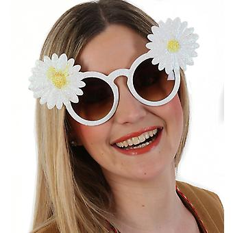 Glitterbrille with flower hippie flower child Woodstock accessory