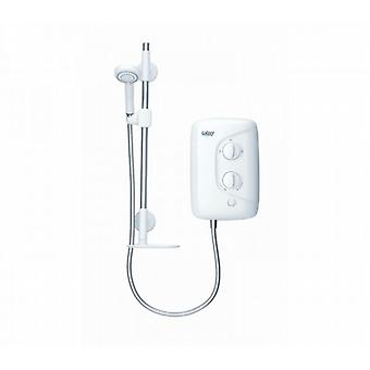 Galaxy Aqua 3000m 10.5kw White And Chrome Electric Shower