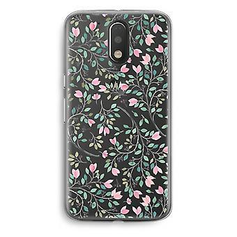Motorola Moto G4/G4 Plus Transparent Case - Dainty flowers