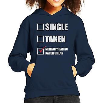 Mentally Dating Karen Gillian Kid's Hooded Sweatshirt