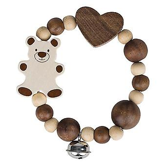 Heimess elastisk Touch Ring Rattle naturlige Bear