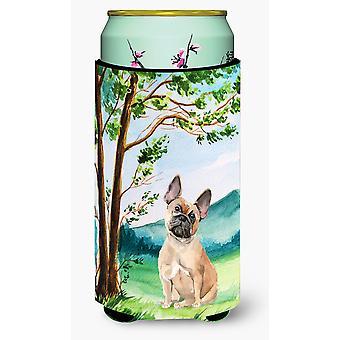 Under the Tree Fawn French Bulldog Tall Boy Beverage Insulator Hugger