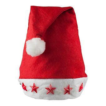 Santa hat med blinkende stjerner