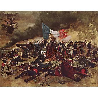 The Siege of Paris, Ernest Meissonier, 50x40cm