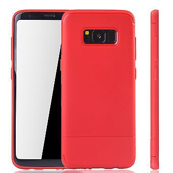 Cubierta móvil Samsung Galaxy S8 Schutzcase carbono rojo tope óptica