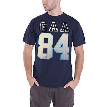 Official GAA T Shirt Established 1884 Hurling Sport Logo Hurling Mens New Blue