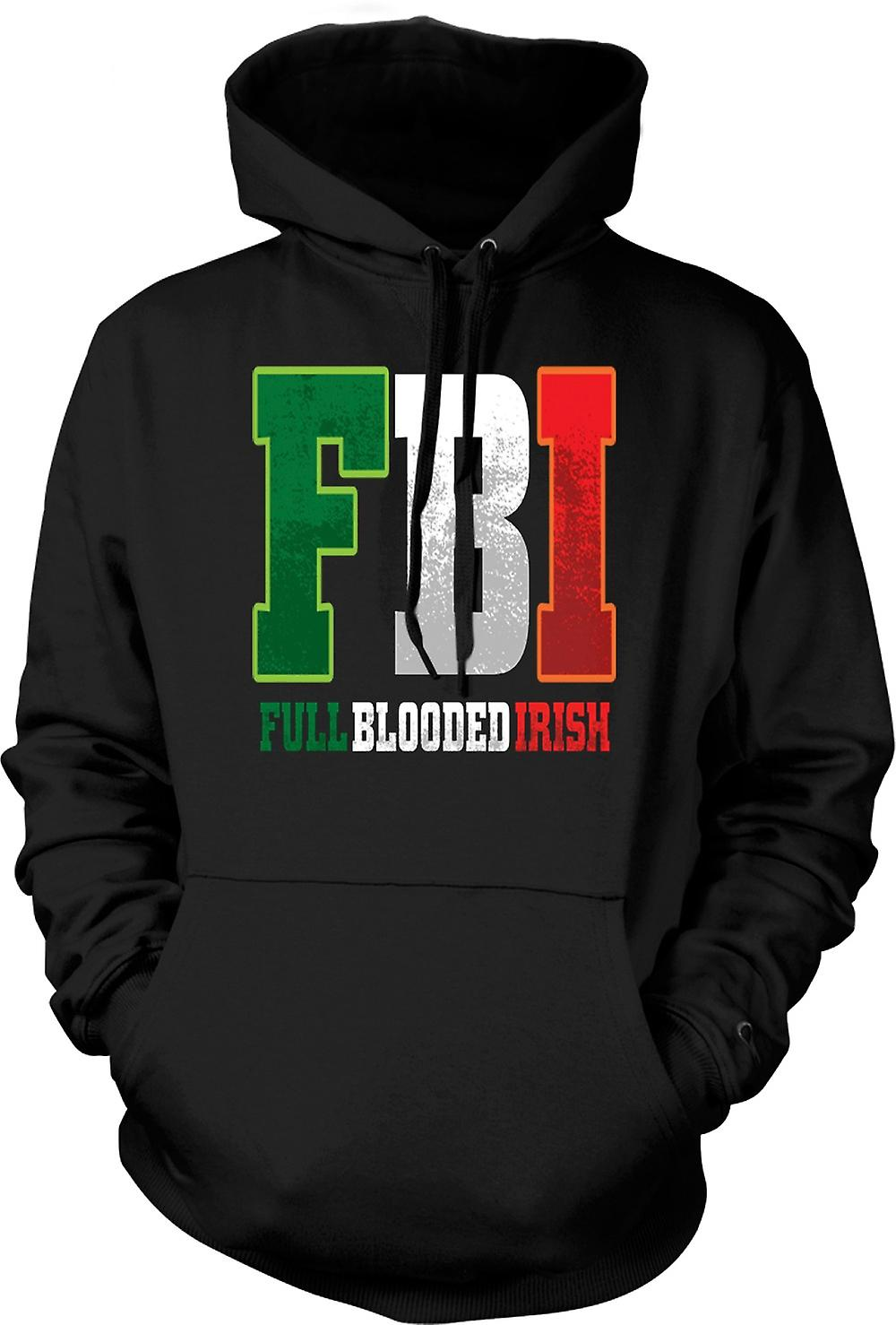 Mens Hoodie - St Patricks Day - FBI - Full Blood Irish