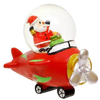 Gisela Graham Christmas Decoration 39202 C Santa Aeroplane Snowglobe
