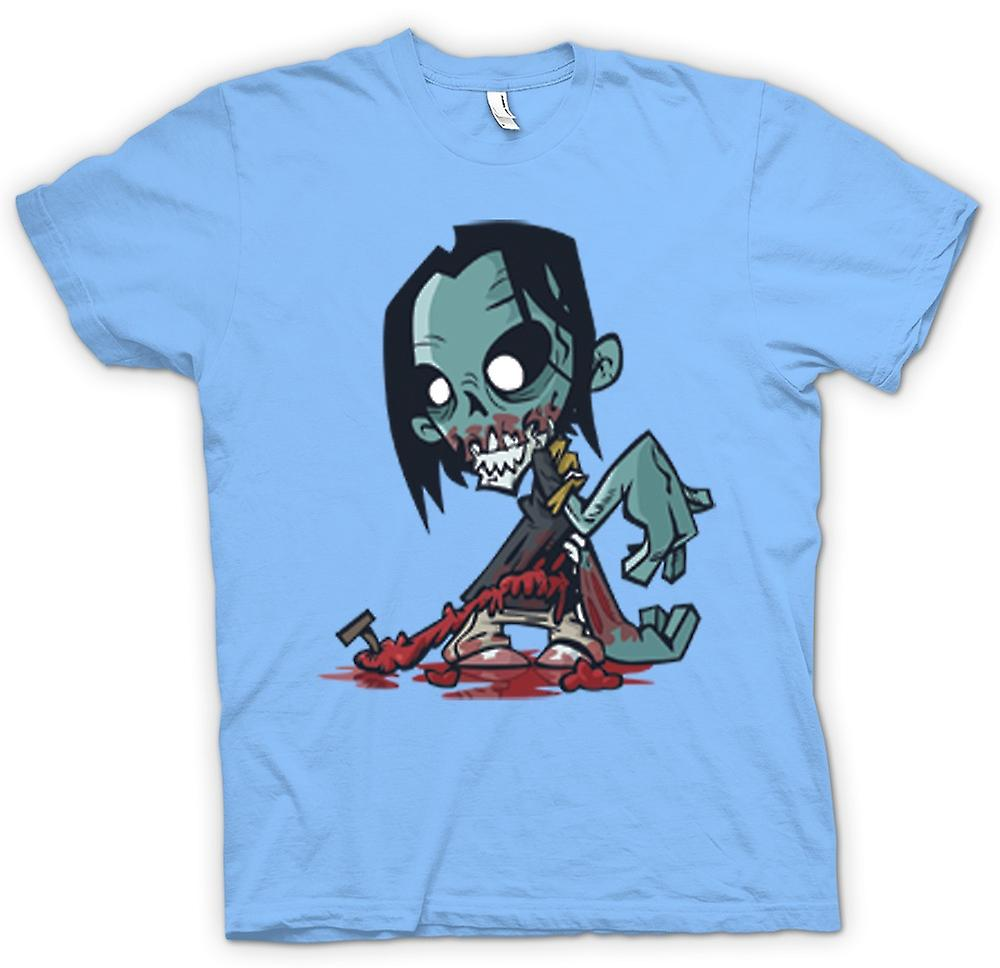 Mens T-Shirts-Cartoon Zombie Untoter Design