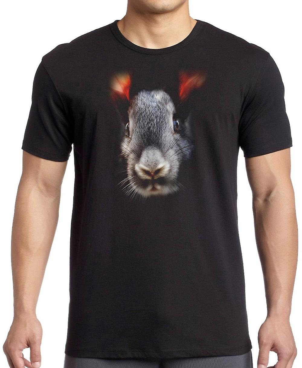 Rabbits Head Portrait Kids T Shirt