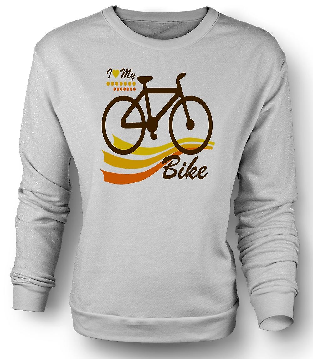 Mens Sweatshirt I Love My Bike - Funny