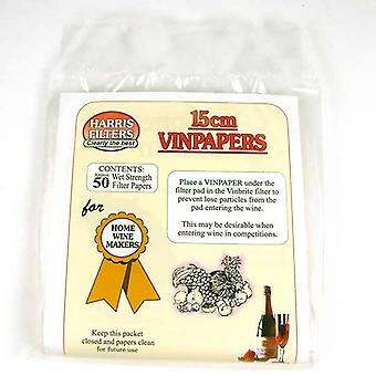 Harris 15cm Vinpapers for Vinbrite 3 - Pack 50