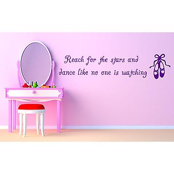 Ballet Dancing Quote Wall Decal