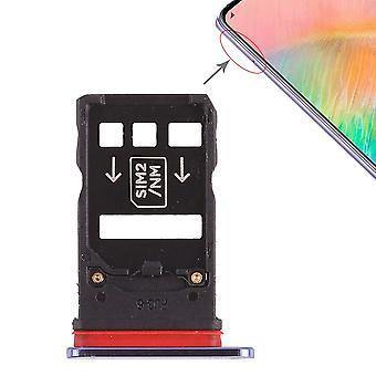 Für Huawei Mate 20 X Karten Halter Sim Card Tray Schlitten Holder Blau Ersatzteil Neu