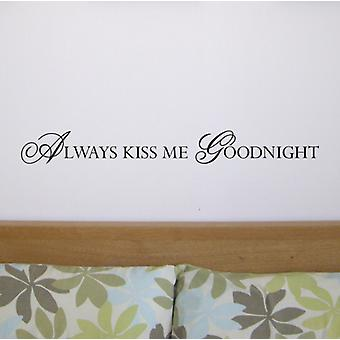 Kiss Me wall quote sticker