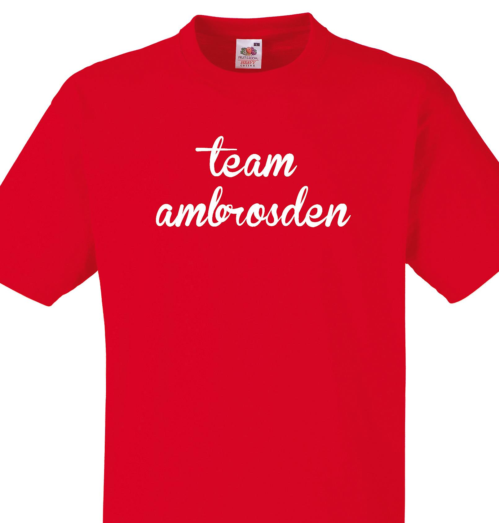 Team Ambrosden Red T shirt