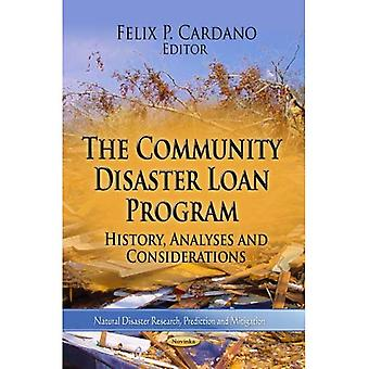 COMMUNITY DISASTER LOAN PROG. (Natural Disaster Research, Prediction and Mitigation)
