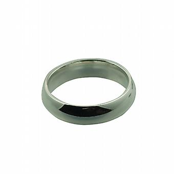 Platinum 6mm plain Court Wedding Ring Size Z