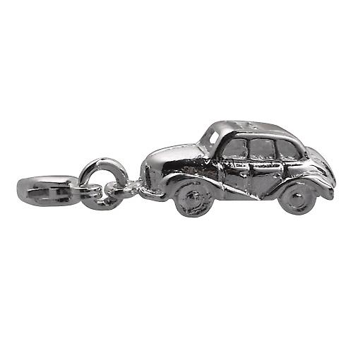 Silver 8x29mm Car Charm on a lobster trigger