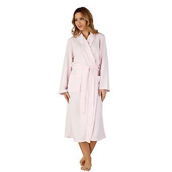 Slenderella HC3301 tessuto Pink Robe Loungewear vasca Vestaglia donna