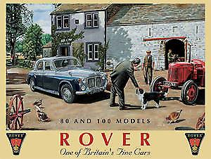 Rover 80 & 100 metal sign