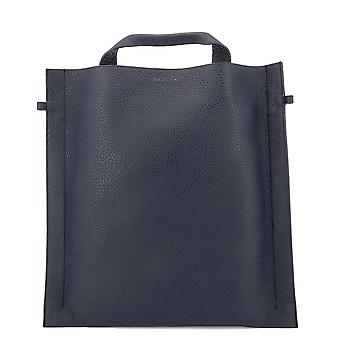 Orciani Blue Leather Tote