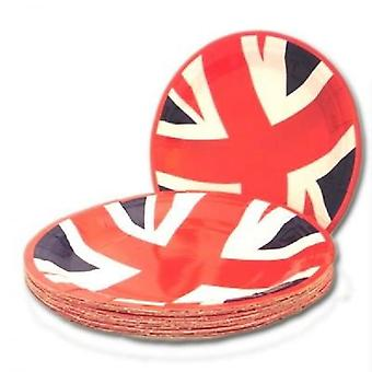 Union Jack Wear Union Jack Value Party Plates - Pack Of 20 - 7 Inch Diameter
