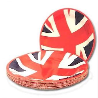 Union Jack desgaste Unión toma valor partido de placas - paquete de 20-7 pulgadas de diámetro