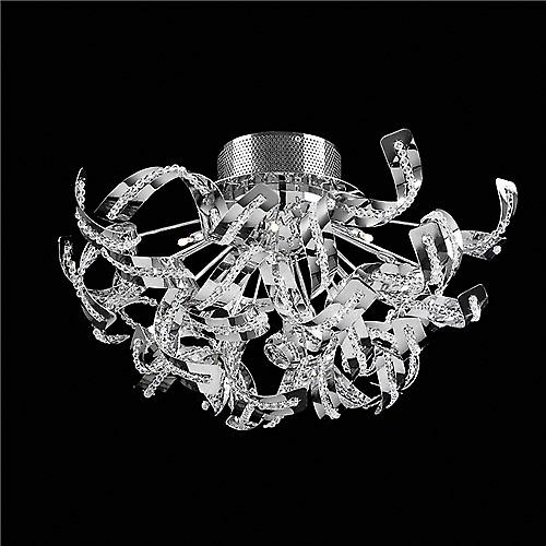 Endon TWIST-12FCH Twist Modern Ceiling Light With Twisted Chrome And Bead Detail