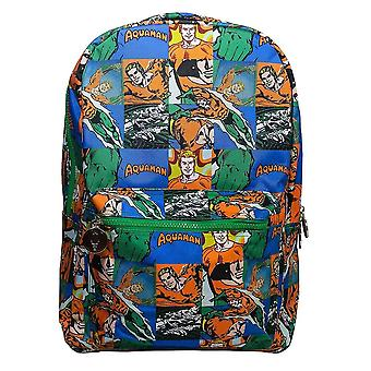 Aquaman Sealife Comic Strip Backpack
