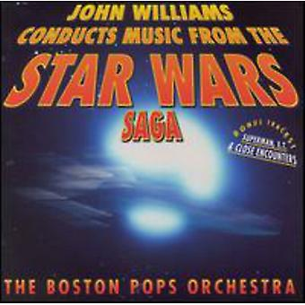 John Williams - John Williams gennemfører musik fra the Star Wars sagaen [CD] USA import