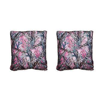 True Timber Camo Pink MC2 Pattern Microfiber Sherpa Throw Pillow Set of 2