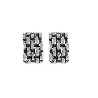 Eterna colección pistas medio aro plata montante perforado pendientes