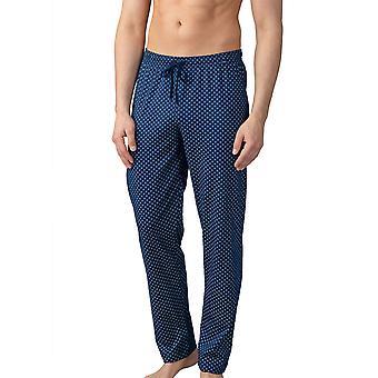 Mey Men 21460-664 Men's Lounge Neptune Blue Tile Print Cotton Pajama Pyjama Pant